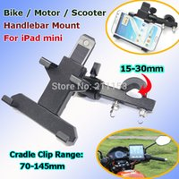 big mini bikes - Best Metal Motorcycle Bike Handlebar Mount Holder for iPad mini Samsung Phone GPS with Big Backup Scooter Stand Bracket