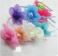 Wholesale Cute hot sale Children sunflower rose buds hair hoop head bands children hair accessories baby girl hair band