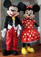 best couple costumes - Mouse Couple minnie and mickey Mascot costume Adult Size Mouse free ship Fancy Dress Suit High Quality best price