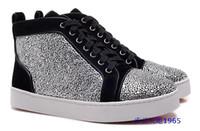 designer shoes - 2015 Newest Fashion crystal men and women shoes Designer men shoes red bottom sneakers