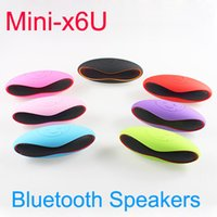 Wholesale Mini X6 x6u Rugby Bluetooth Speaker Wireless Stereo Built in Mic Hands free Mini Portable Subwoofer Support TF AUX USB FM Music Player