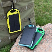 Wholesale hot Universal mA Solar Charger Waterproof Solar Panel Battery Chargers for Smart Phone PAD Tablets Camera Mobile Power Bank Dual USB