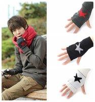 Wholesale 2015 New Fashion Gloves Unisex Autumn Winter colors Hand Crochet Knit Stretchy Fingerless Glove Warm Snapback Balaclava Good quality