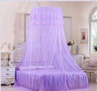 Wholesale Landing enlarge encryption Hanging dome ceiling princess lace Mosquito Net Bedding Supplies