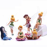 Wholesale 6pcs Genius Elf Mini Figure Character Fairy Tale Resin Craft Home Jardin Miniature Terrarium Landscape Garden Decoration Tool Girls Gift