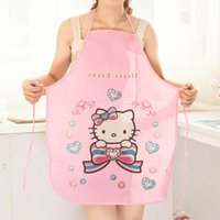 Wholesale bust cartoon kitchen aprons cute aprons PVC waterproof anti oil stain sleeveless Apron