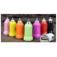 Wholesale 5V A Multi Color Mini USB Car Charger Adapter Universal for iPod Digital Cameras PDA Cell Phone
