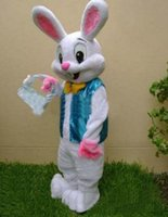 Wholesale 2015 new PROFESSIONAL EASTER BUNNY MASCOT COSTUME Bugs Rabbit Hare Adult Fancy Dress Cartoon Suit