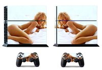 Cheap Sexy Lady 209 Vinly Skin Sticker Protector for Sony PS4 PlayStation 4 and 2 controller skins Stickers Free Shipping