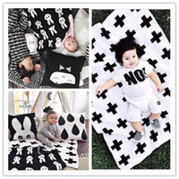 Wholesale INS hot Baby bed flannel blanket Summer blanket for infant children Cartoon watermelon rabbit Blankets rug CM best