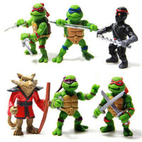 Roles animated ninja turtles - Teenage Mutant Ninja Turtles TMNT2014 Animated Action Figure Toys A Full Set Of Six Nostalgic Boy Toy Hand Do Model