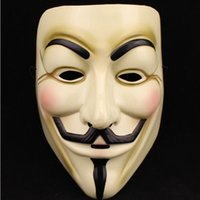 Wholesale 2015 Hot Selling Party Masks V for Vendetta Mask Anonymous Guy Fawkes Fancy Dress Adult Costume Accessory Party Cosplay Masks