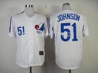 best randy - 30 Teams Men s Montreal Expos Randy Johnson Jerseys Best Quality Stitched Throwback New Baseball Jersey White
