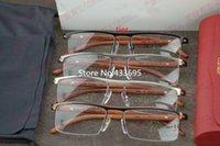 Wholesale 2015 men and women fashion spectacle optical eyeglasses glasses frame wooden leg half rim frame