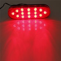 Wholesale 12V LED Car Rear Strobe Tail Brake Stop Flashing Light Fog Lamp for most vehicle