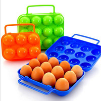 Wholesale Utility Portable Egg Storage Box Crisper Organization Holder Container Camping Shatter proof Carrier Kitchen Tools