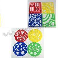 Wholesale Geometric figure and flower stencil Art template Birthday gift Christmas toys Kids drawing toys x12 x0 cm