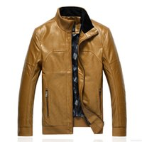 Wholesale Fall top quality fashion men leather jacket motorcycle pu jaqueta masculina couro overcoat colors M L XL XXL JPPY3041