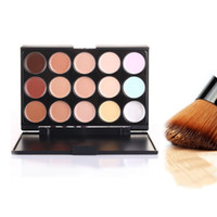 Cheap Professional Cosmetic Salon Party 15 Colors Camouflage Palette Face Cream Makeup Concealer Palette Make up Set Tools With Brush 100pcs