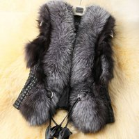 Wholesale HOT Winter Coat Women Import Whole Peel Fox Fur Vest High Grade Cappa Fur Coat Leisure Shitsuke Women Coat Size S XXL