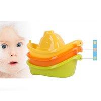 plastic tubs - 12sets Baby Plastic Bathtime Bath Toddler Tub Floating Boat Kid Play Toy Tug New