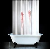 Wholesale 71 Bath Funny Bleeding Hand Shower Curtains ETH030 Polyester Waterproof Barthroom Shower Curtain