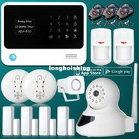 Wholesale WiFi Network GSM GPRS SMS Home House Security Alarm SystemKit HD IP Camera
