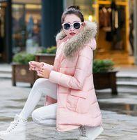Wholesale winter jacket women large fur collar cotton padded jacket parka casual winter coat women clothing Plus size Outwear
