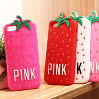 berry covers - Cartoon D PINK Berries With Glasses Soft Silicon Rubber Gel Case Cover For iphone S S