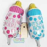 aluminum milk bottle - mini cute balls milk bottle shape Large bottle aluminum foil balloon boy girl baby girl male fashion birthday balloon