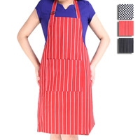 Wholesale Wholesales Chef Waiter Stripe Bib Apron Kitchen Restaurant Cooking Aprons With Pockets for Men and Women Cooking Tool JE0153 Salebags