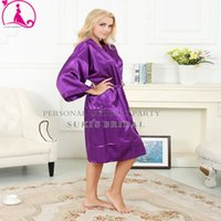 sexy fashion pajamas - Fashion Women s Solid Silk Kimono Robe for Bridesmaids Wedding Party Night Gown Pajamas colors available