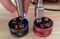 battery resistance meter - 2015 New Thread Atomizer Resistance Tester ohm meter Clearomizer ohm meter ego battery Voltage Meter e cigarette tester device