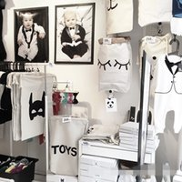 Wholesale 50pcs Free DHL Baby Bedroom Storage Canvas Bags New Room Decorate Cute Decorate Outdoor Lovely Cute Cartoon Bear Batman Laundry Bags