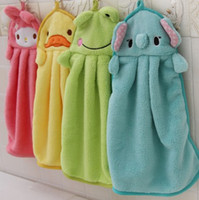 Wholesale Animal Microfiber Kids Children Cartoon Absorbent Hand Dry Towel Lovely Towel For Kitchen Bathroom Use Nursery Hand Towel Soft Plush Cartoon