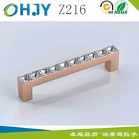 Wholesale Hong Jingyuan factory outlets rose gold crystal zinc alloy double pitch Leroy handle HJY Z216 home