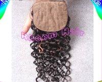 Cheap silk base lace closure Best deep wave closure