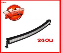 Cheap DHL free shipping New Arc Led strip light 240 w work light double row strip bending light lamp bead wafer