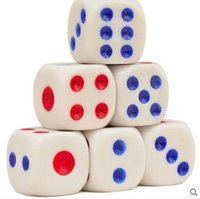 Wholesale Dice Toys New Fashion Includes100 Basic Dice With Red and Blue Dots sides Each measures gambling dice Size mm mm