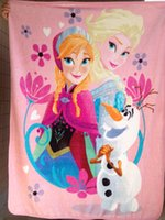 Wholesale Frozen baby Cobertor Anna Elsa Olaf Frozen blanket for kids Super Soft plush warm baby Blanket manta on the bed