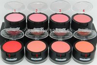 free product samples - pcs2015 NEW PRODUCTS real brand makeup blusher Rouge cheeck color sample size with Powder puff and mirrors