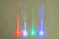 Wholesale Flash light emitting braid fiber optic wire braid hairpin LED light bar wig party supplies Factory Outlet