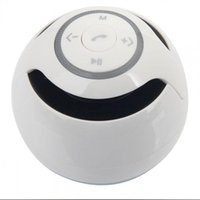 Wholesale 1pcs White Portable Wireless Bluetooth Speaker W Stereo Audio Sound Outdoor Subwoofer Speaker For iPhone MP3 MP4 Free Ship