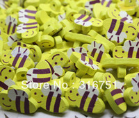 Wholesale Mixed bees Wood Sewing Buttons Scrapbooking mm Knopf Bouton W02279