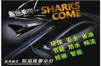 automobile strobe lights - NEW Solar Universal Car Shark Shape Safety Flash Automobile Strobe Antenna Emergency Warning Alarm Tail Light Lamp