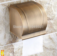 bathroom tissue dispensers - antique copper tissue box toilet paper box paper wall holder Bathroom all enveloping Waterproof Toilet Paper Dispenser