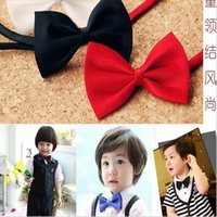 Wholesale 2014 Hot Sale Kids Fashion Accessories Boys Bow Silk Ties Baby Bowties Photography Props Colors Available