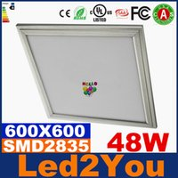 Cheap High Bright 48W Suspended Ceiling Led Light Panels 600X600 Led Panel Lights SMD 2835 Led Ceiling Lighting For Indoor Light AC 85-265V