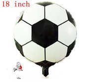 balloons football - 18 Inch Football Ballons Foil Cartoon Balloons Children Thick Balloon Wedding Birthday Party Balloons Christmas Gifts