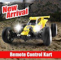 Wholesale Top Quanlity Car Mini RC Radio Remote Control RTR Racing Car Kart Buggy Kid Gift Yellow